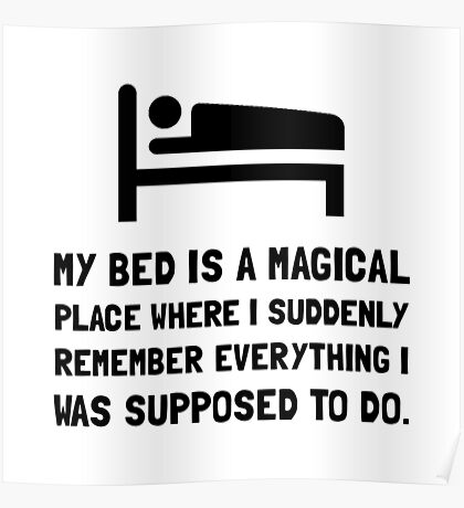 Bed Magical Place Poster