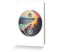 Tropical Yin Yang Greeting Card