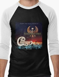 CHICAGO WITH EARTH WIND FIRE Men's Baseball ¾ T-Shirt