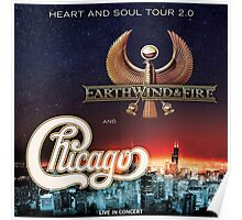 CHICAGO WITH EARTH WIND FIRE Poster