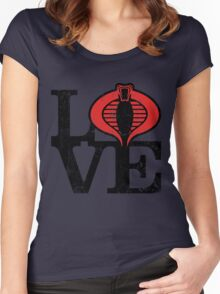 LOVE COBRA Women's Fitted Scoop T-Shirt