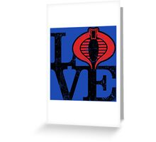 LOVE COBRA Greeting Card