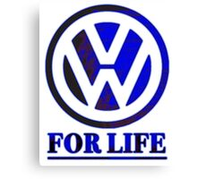 VW for life Blue Canvas Print