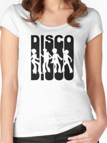 Retro Disco Dancers Women's Fitted Scoop T-Shirt