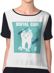 Dental Care Chiffon Top