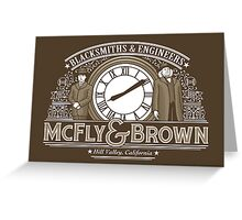 McFly & Brown Blacksmiths Greeting Card
