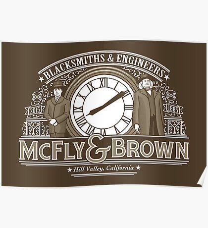 McFly & Brown Blacksmiths Poster