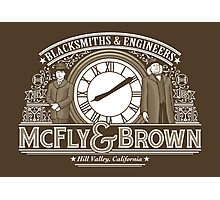 McFly & Brown Blacksmiths Photographic Print