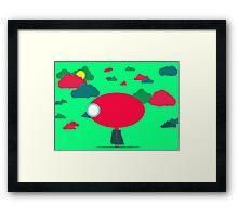 Little Alien Girl Framed Print