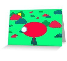 Little Alien Girl Greeting Card