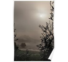 A mysterious foggy morning Poster