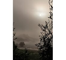 A mysterious foggy morning Photographic Print