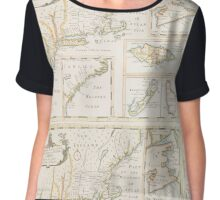 Historic Map of North america Chiffon Top