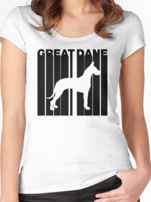 Retro Great Dane Women's Fitted Scoop T-Shirt