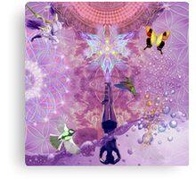 Purple Yoga  Canvas Print