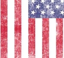 Beautiful Weathered American Flag Sticker