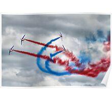And Break !! - Patrouille De France - HDR - Duxford 2014 Poster