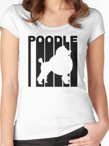 Retro Poodle Women's Fitted Scoop T-Shirt