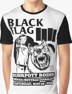 Retro Punk Restyling   - Black Flag wolf Graphic T-Shirt
