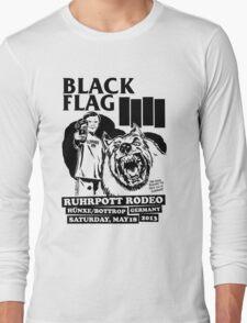 Retro Punk Restyling   - Black Flag wolf Long Sleeve T-Shirt
