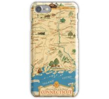 Historical map of the state of Connecticut 1930s iPhone Case/Skin