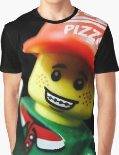 Pizza Delivery Man Graphic T-Shirt