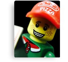 Pizza Delivery Man Canvas Print