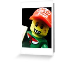 Pizza Delivery Man Greeting Card