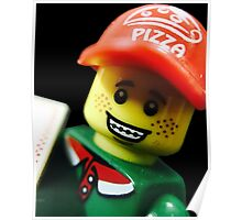 Pizza Delivery Man Poster