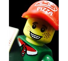 Pizza Delivery Man Photographic Print