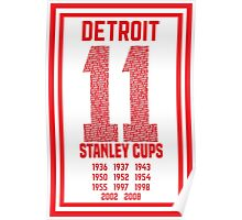 11 Stanley Cups Poster