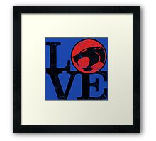 LOVE THUNDERCATS Framed Print