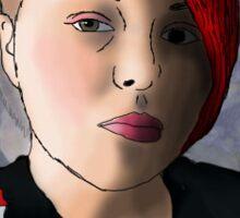 kenedi headshot self portrait  Sticker