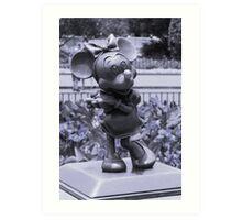 Minnie (Blue) Art Print
