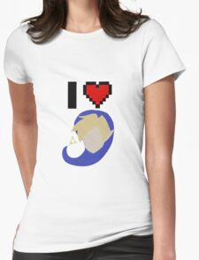 I <3 Link (Blue) Womens Fitted T-Shirt