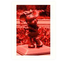 Minnie (Red) Art Print