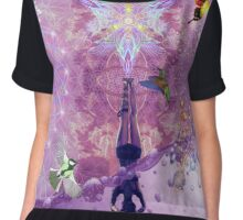 Purple Yoga  Chiffon Top