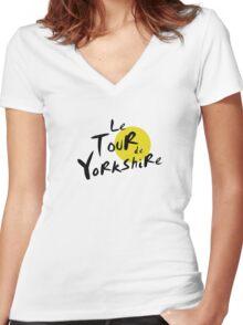 Le Tour de Yorkshire Women's Fitted V-Neck T-Shirt