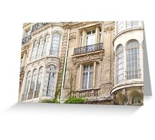 Paris windows and balconies Greeting Card