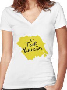 Le Tour de Yorkshire 2 Women's Fitted V-Neck T-Shirt