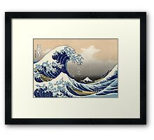 The Great Wave off Kanagawa - Hokusai - Views of Mount Fuji Print Framed Print