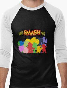 Super Smash Bros. 64 All Characters Silhouettes  Men's Baseball ¾ T-Shirt