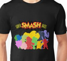 Super Smash Bros. 64 All Characters Silhouettes  Unisex T-Shirt