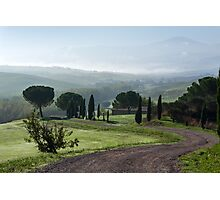General view of Val d'orcia, Tuscany Photographic Print