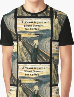 Silent Scream for Coffee Graphic T-Shirt