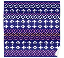 Beautiful Aztec Inspired Luxury Folk Design Collection 2016 Poster