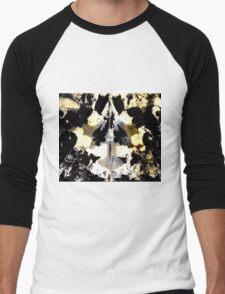 Layered Inkblot Men's Baseball ¾ T-Shirt