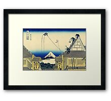 A sketch of the Mitsui shop - Hokusai - Views of Mount Fuji Print Framed Print