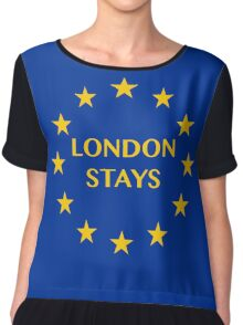 London Stays Chiffon Top