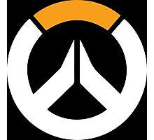 Overwatch Symbol Logo - White & Orange Photographic Print
